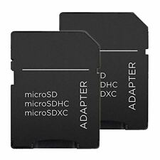 MICRO SD SDHC SDXC MEMORY CARD ADAPTOR ADAPTER CONVERTER TO SD 2 Pack
