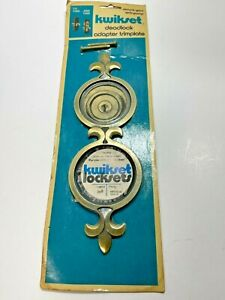 Kwikset Vintage Deadlock Adapter Trim plate Antique Brass #260