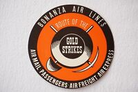 Bonanza Air Lines Airline Luggage Label