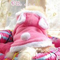 Warm Cute Coat Dog Dress Fancy HOT Rabbit Coat Costume Pet Clothes Puppy Cat