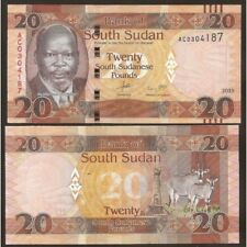 SOUTH SUDAN  20 Pounds 2015 UNC P 13 a