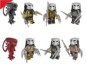 16PCS Custom Mini Figure Alien vs Predator Terminator Hero AVP Lego Minifigures