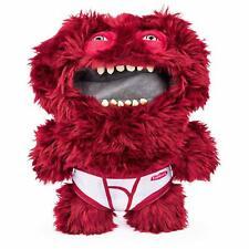 """Fuggler Underoo McGoo Plush Monster, Wears Underpants Red Maroon Furry 9"""" SEALED"""