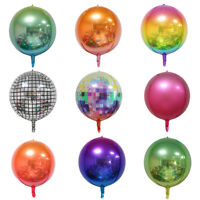 "22"" 4D Rainbow Disco Helium Foil Balloon Wedding Birthday Party Club Decor"