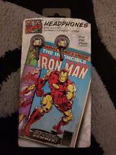 Iron Man auriculares se adapta a Ipad, Iphone. Ipod y todas las unidades con un conector 3.5mm