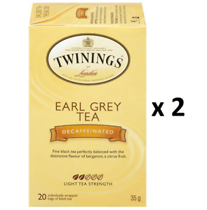 Twinings Earl Grey Decaffeinated Tea (20 Bags) - Pack of 2 - FROM CANADA