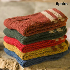 5Pairs Women Wool Cashmere Lady Thick Winter Socks Warm Soft Casual Sock Sp