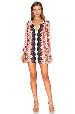 $168 Free People OSSIE Bell Sleeve Mini Tunic Top Dress Key Hole 4