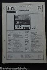 ITT SCHAUB-LORENZ studio recorder 730 orig Schaltplan Service Manual