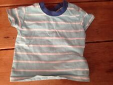 Boys Stripy Blue T-shirt Age 0 To 3 Months Matalan