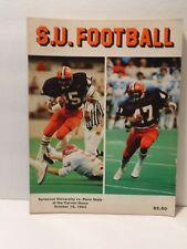 Syracuse University vs Penn State Football program: Oct. 1983
