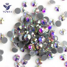 Clear AB Crystal Hot Fix Rhinestone Glass Strass Hotfix Iron On Rhinestones