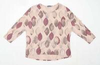 Nina Murati Womens Size S-M Floral Pink Top (Regular)