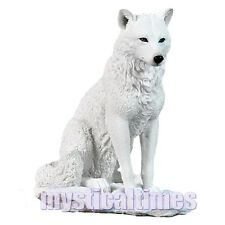 NEW * GHOST WOLF *  NEMESIS STATUE FIGURINE ORNAMENT WITH FREE POST G0751