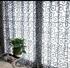 Valance Curtain Lace Black Net Sheer 1 Pair Fast shipping USA