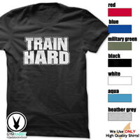 TRAIN HARD Gym Men's Bodybuilding T-shirt & Fitness Workout Motivation c156
