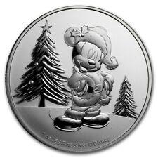 NIUE 2 Dollars Argent 1 Once Noel Disney Mickey 2019
