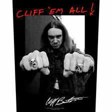Metallica - Back Patch  Cliff Em All!