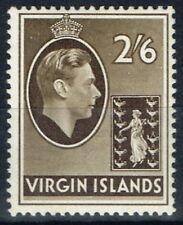 Virgin Islands 1938 2s6d Sepia SG118 Chalk Paper Fine Mtd Mint