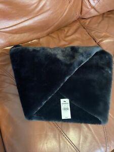 Express  Faux Fur Stole Wrap Scarf NWT Black