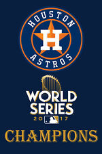 HOUSTON ASTROS POSTER Baseball 12INX18IN World Series Champions 2017