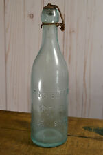 Blob Top Bottle Embossed Bottle Not To Be Sold Green