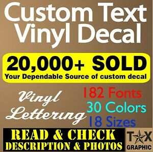 Custom Vinyl Lettering Decal Personalized Sticker  Business Sign Text Name Door