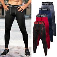 Mens Compression Pants Base Layer Long Tight Leggings Gym Sports Running Pants