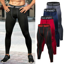 Para Hombre Pantalones de compresión Capa Base Larga Leggings Gym Sports Running Pantalones Ajustados