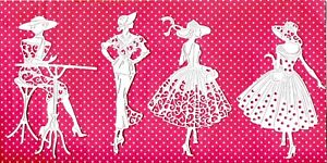 8 NEW TATTERED LACE ELEGANT LADY DIE CUTS -GIRL ART DECO MOTHER
