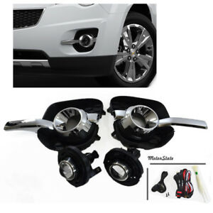 New For 10-16 Chevy Equinox Front Pair Driver Fog Lights Bumper Lamps Set Clear
