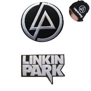"""2 LP Logo LINKIN Park Iron Patch Embroidered Badge for Sewing on Coat Cap 2 3/4"""""""