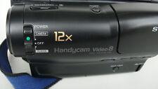Sony Handycam Video 8 TR370E con batteria, lead, caricabatterie, manuale, custodia di trasporto
