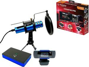Raiden Stream Pack Pro for Streaming Gamers and Youtubers, Full HD Video Capture