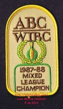 LMH PATCH Badge  ABC 1987 '88 MIXED LEAGUE CHAMPION American Bowling WIBC Womens