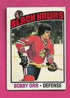 1976-77 OPC # 213 CHICAGO HAWKS BOBBY ORR CREASED CARD (INV# C9078)
