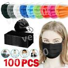 10/50/100X Disposable Face Mask Protective 3 Layer Mouth Masks Disposable Mask