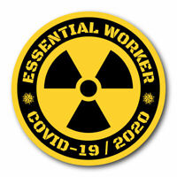50 PACK Essential Worker Hard Hat Sticker Nuclear Green Toxic Covid Decal Set 19