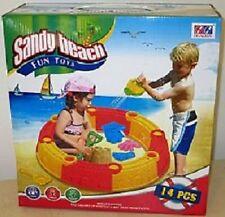 Sandkasten Sandbox zum Zusammenstecken Sandkiste mit Zubehör Sandkasten 14 tlg.