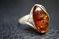 Designer Ring Bernstein Silber / a43