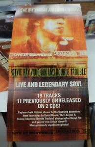 STEVIE RAY VAUGHAN LIVE MONTREUX RARE Promo Poster Flat NEW ORIGINAL VINTAGE 01
