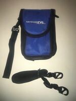 Nintendo DS Blue Travel Bag Storage Carrying Case for System Accessories & Games