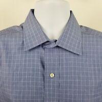 Brooks Brothers 1818 Non Iron Mens Blue Check L/S Dress Button Shirt Sz 16-34
