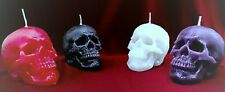 Skull Candle-Halloween Handmade Unscented-Gothic Home Decor Skulls !LIMITED!