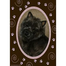Paws House Flag - Black Cairn Terrier 17327