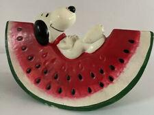 Snoopy peanuts money bank tirelire fruit Watermelon schulz vintage