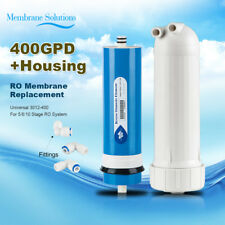 Water Desalination Pure Drinking RO Membrane 400GPD+Housing+Fitting Saving Cost