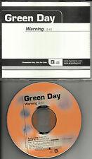 GREEN DAY Warning RARE 1TRK USA PROMO Radio DJ CD Single 2000 PROCD 100453 MINT