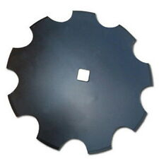 "Universal Fit 18"" Notched Disc Blade 3mm x 1"" Square Axle Hole"
