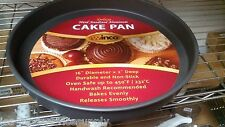 """Set of 6 8""""x 2"""" Round Deluxe Cake/Deep Dish Pizza Pan- Anodized Aluminum"""
